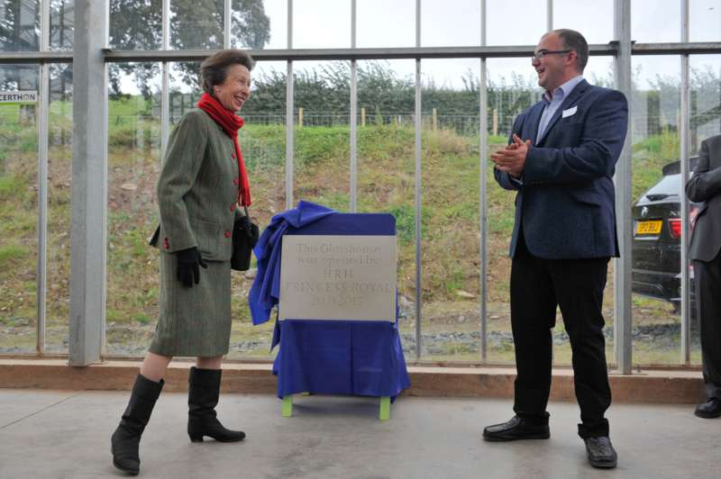 HRH Princess Royal officially opens the glasshouse